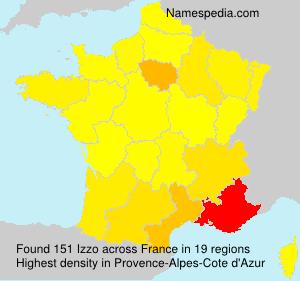 Familiennamen Izzo - France
