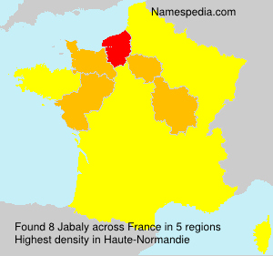 Surname Jabaly in France