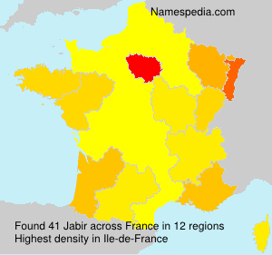 Surname Jabir in France