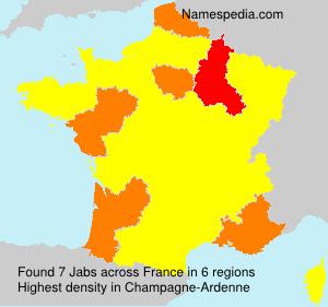 Familiennamen Jabs - France