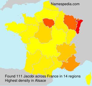 Surname Jacobi in France