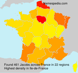 Surname Jacobs in France