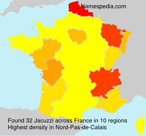 Surname Jacuzzi in France