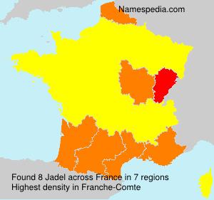 Familiennamen Jadel - France