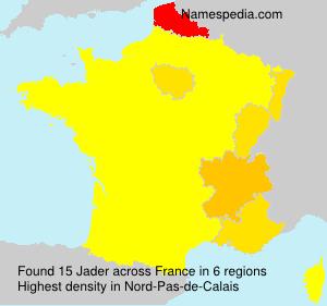 Surname Jader in France