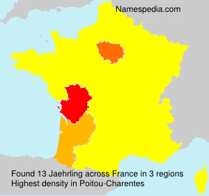 Surname Jaehrling in France