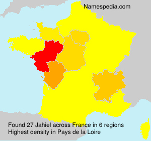 Surname Jahiel in France