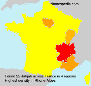 Surname Jahjah in France