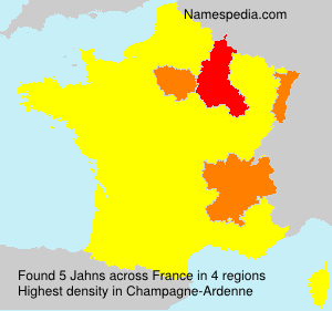 Surname Jahns in France