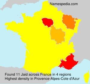 Familiennamen Jaid - France