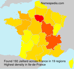 Surname Jaillard in France