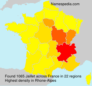 Surname Jaillet in France