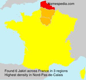 Familiennamen Jakiri - France