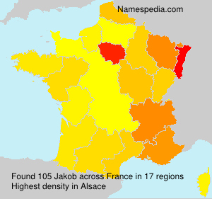 Surname Jakob in France