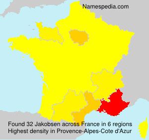 Surname Jakobsen in France