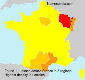 Familiennamen Jaksch - France