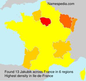 Surname Jakubik in France