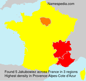 Surname Jakubowiez in France