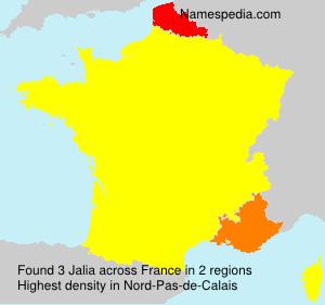 Surname Jalia in France