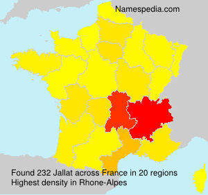 Surname Jallat in France