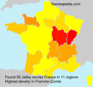 Surname Jalley in France