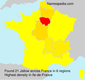 Surname Jallow in France