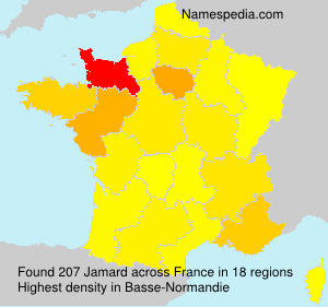 Surname Jamard in France