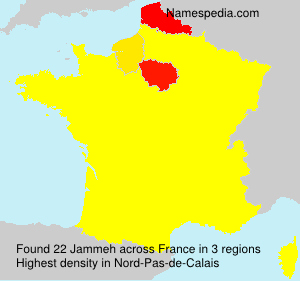 Surname Jammeh in France