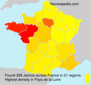 Surname Jamois in France
