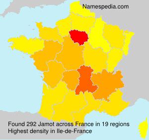 Surname Jamot in France