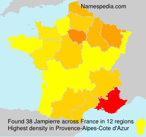 Surname Jampierre in France