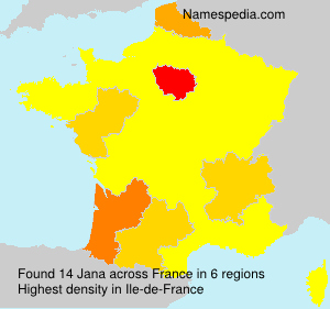 Surname Jana in France