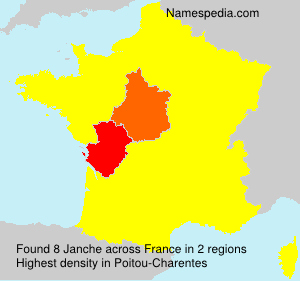 Surname Janche in France