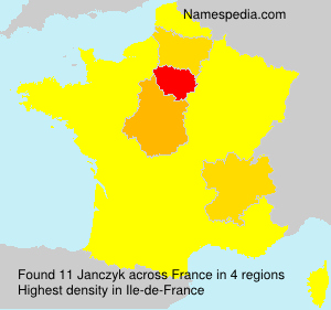 Surname Janczyk in France