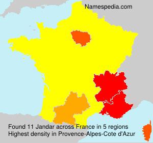 Surname Jandar in France