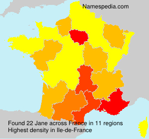 Surname Jane in France