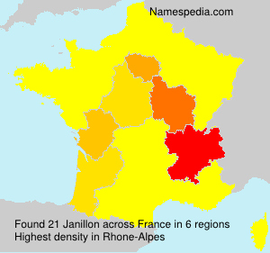 Surname Janillon in France