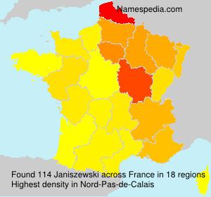 Surname Janiszewski in France