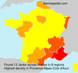 Surname Janke in France