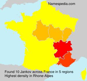Familiennamen Jankov - France