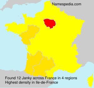 Surname Janky in France