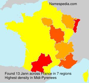 Surname Jann in France