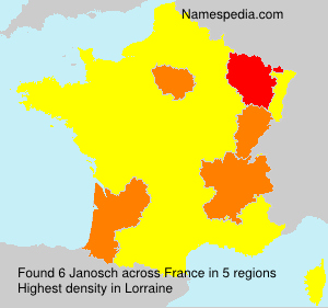 Surname Janosch in France