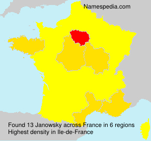 Surname Janowsky in France
