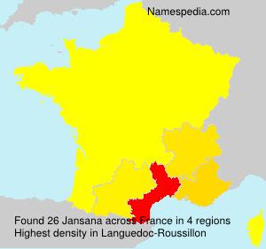 Surname Jansana in France