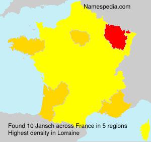 Familiennamen Jansch - France