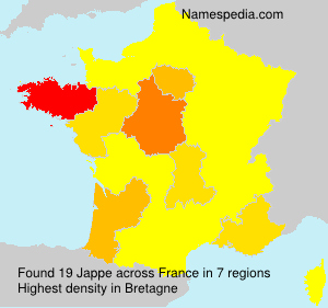 Surname Jappe in France