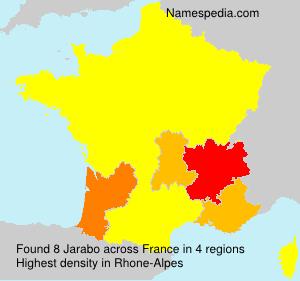 Surname Jarabo in France
