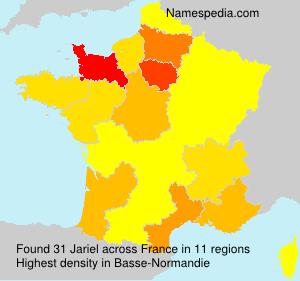 Familiennamen Jariel - France