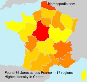 Surname Jaros in France